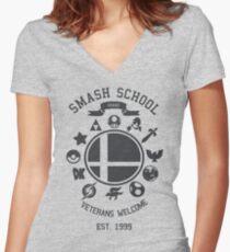 Smash School - Smash Veteran Women's Fitted V-Neck T-Shirt