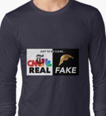 REAL NEWS/FAKE PRESIDENT Long Sleeve T-Shirt