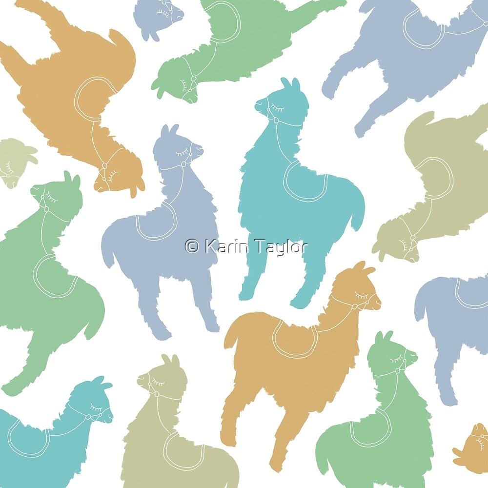 Happy Llamas by Karin Taylor