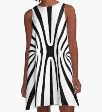 High Contrast Fractal Abstract 140717 A-Line Dress