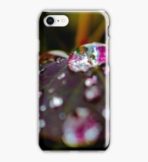 World through a droplet iPhone Case/Skin