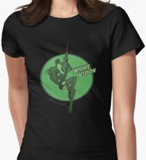Night Vision Pin Up Women's Fitted T-Shirt