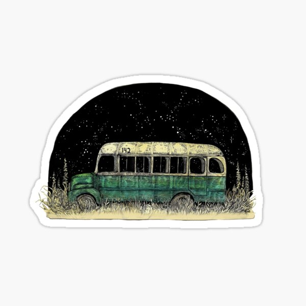Magic Bus || Into the Wild Illustration by Chrysta Kay Sticker