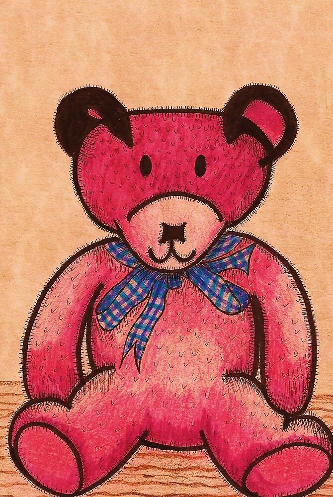 Pink Teddy Bear by cafelatte21