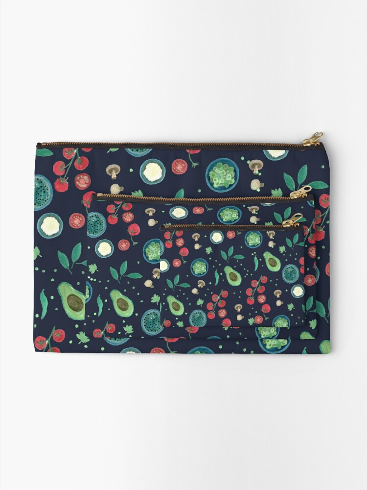 Alternate view of Italian Food Illustration in Gouache Zipper Pouch