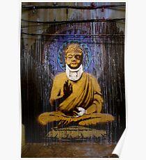 Banksy - Bashed Buddha Poster