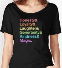 Camiseta ancha para mujer Mi pequeño pony - Elements of Harmony - Rainbow
