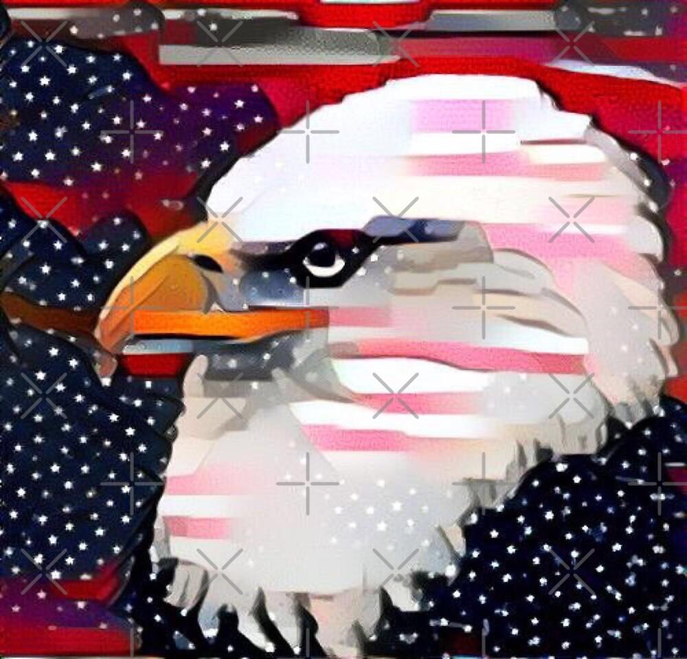 Patriotic Eagle by Funkymask
