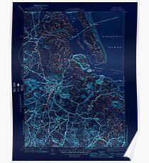 Massachusetts  USGS Historical Topo Map MA Ipswich 351817 1945 31680 Inverted Poster