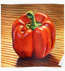 Sweet Red Bell Pepper Poster
