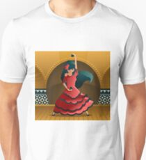 flamenco girl dancing on stage Unisex T-Shirt