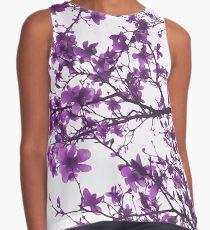 Purple Flowers in Bloom Contrast Tank