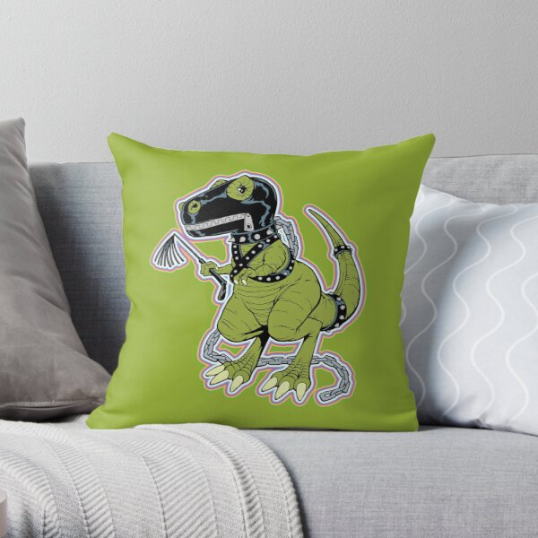 Rex the Tyrannosaur - LGBT Dinos! Throw Pillow