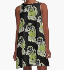 Rex the Tyrannosaur - LGBT Dinos! A-Line Dress