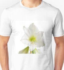 White Amaryllis Flower Unisex T-Shirt