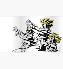 Dragon Ball Z Family Kamehameha Print Poster