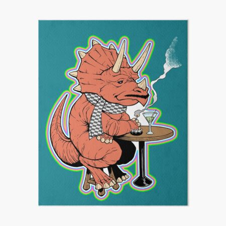 Ty the Triceratops LGBT Dinos! Art Board Print