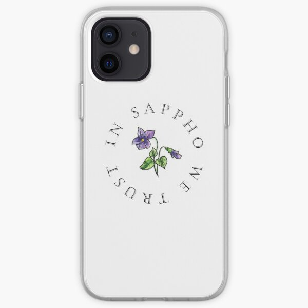 In Sappho We Trust Violet iPhone Soft Case