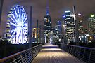 Melbourne after dark by Travis Easton