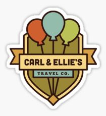 Carl & Ellie's Travel Company Sticker