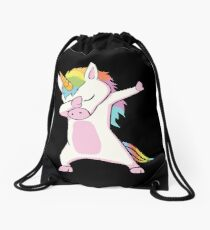 Dabbing Unicorn Shirt Drawstring Bag