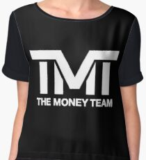 TMT | The Money Team | Black Women's Chiffon Top