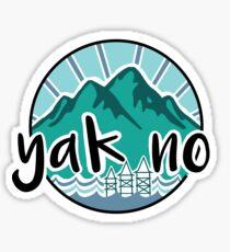 Yak No-- Color Sticker