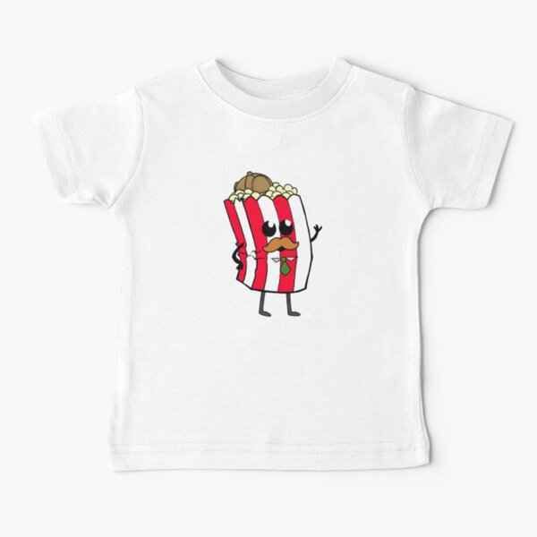 Detective Popcorn and his Buttery Goodness! Baby T-Shirt