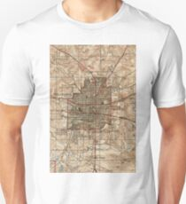 Vintage Map of Tallahassee Florida (1940) Unisex T-Shirt