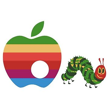 The Hungry Caterpillar eats the Apple Logo by ebonyrose5