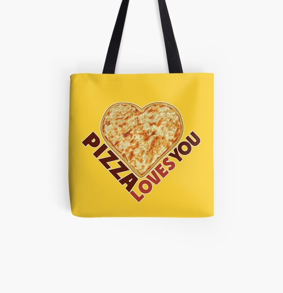 Pizza Loves You All Over Print Tote Bag