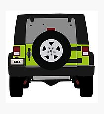 Off-Road Jeep   Green Photographic Print