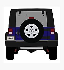 Off-Road Jeep   Navy Blue Photographic Print