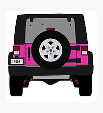 Off-Road Jeep   Pink Photographic Print