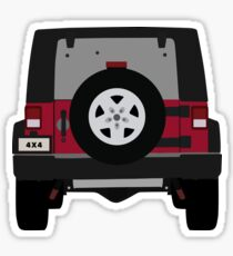 Off-Road Jeep | Red Sticker