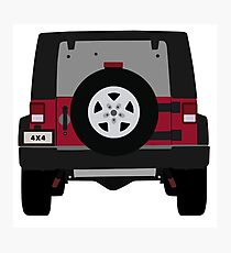 Off-Road Jeep   Red Photographic Print