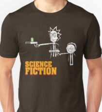 Science Fiction Rick and Morty Pulp Fiction T-Shirt
