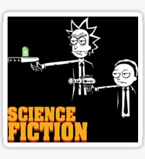 Science Fiction Rick and Morty Pulp Fiction Sticker