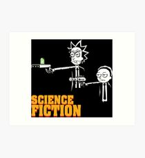 Science Fiction Rick and Morty Pulp Fiction Art Print