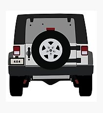 Off-Road Jeep   Silver Photographic Print
