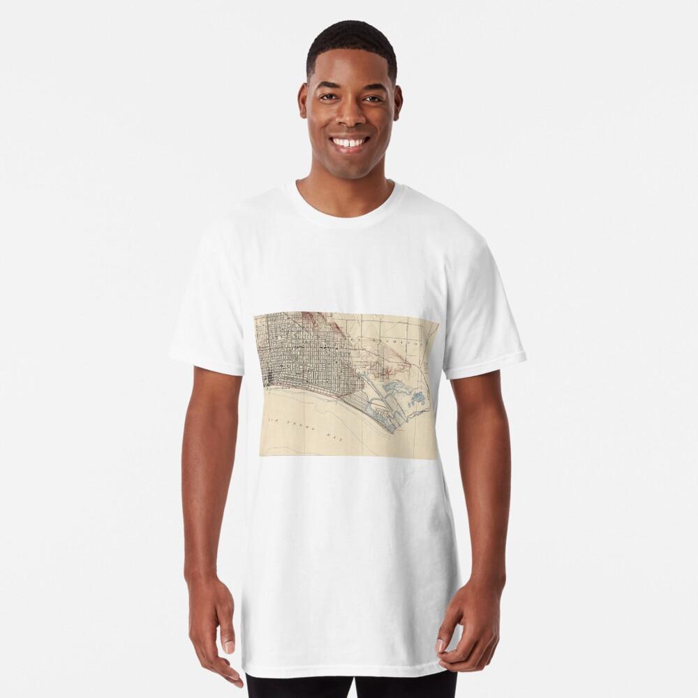 Vintage Map of Long Beach California (1923) Long T-Shirt