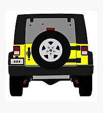 Off-Road Jeep   Yellow Photographic Print