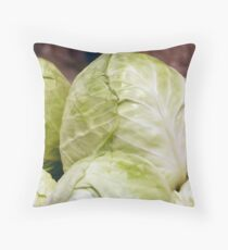 Pile of ripe cabbage Throw Pillow