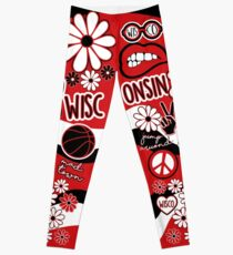 Wisconsin Flower Pattern Leggings