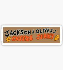 Cheese Jerky sign Sticker