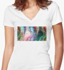 XWING Zapper Women's Fitted V-Neck T-Shirt