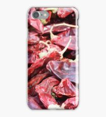 Dried red peppers. iPhone Case/Skin