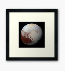 Pluto in High Resolution Framed Print