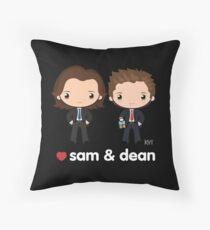 Love Sam & Dean - Supernatural Throw Pillow