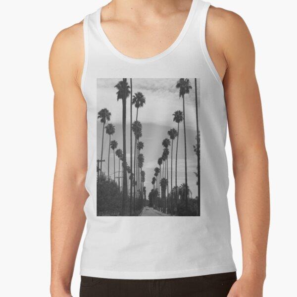 Vintage Black & White California Palm Trees Photo Tank Top